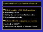 causes of physiologic hyperbilirubinemia 2