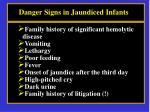 danger signs in jaundiced infants