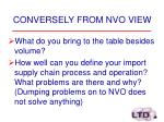 conversely from nvo view