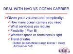 deal with nvo vs ocean carrier