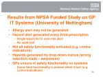 results from npsa funded study on gp it systems university of nottingham