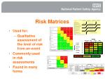 risk matrices