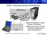 wds dynamic driver provisioning