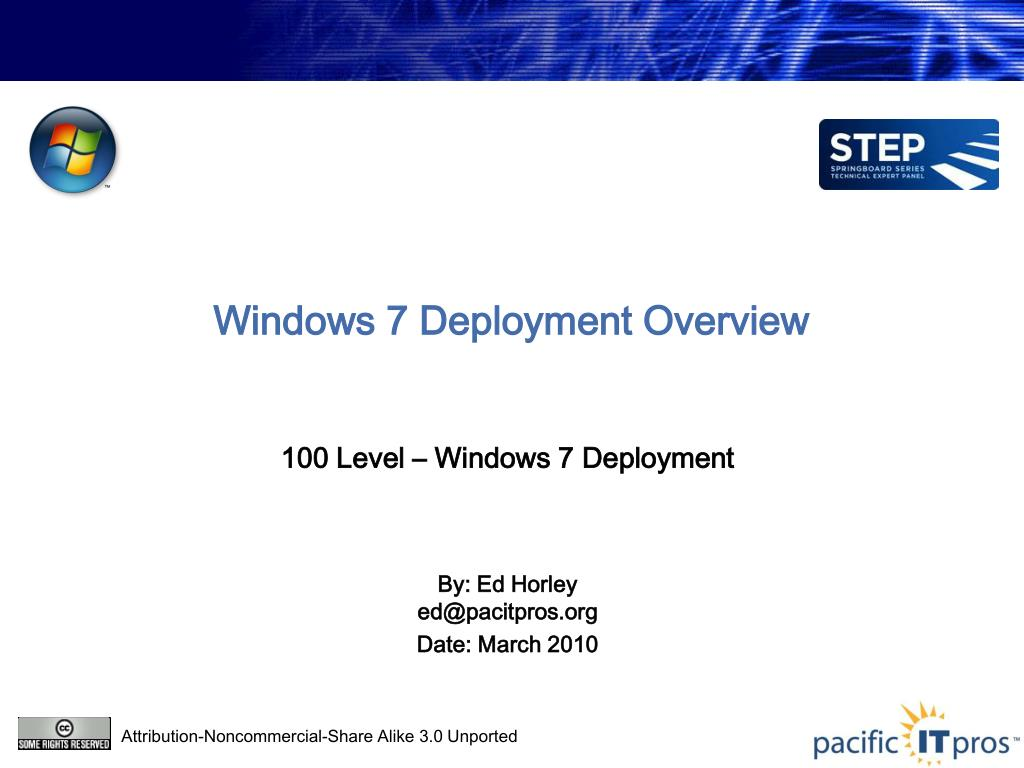 windows 7 deployment overview l.