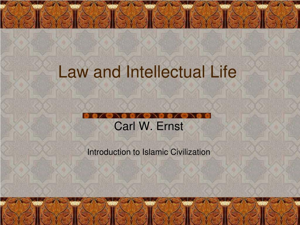 law and intellectual life l.
