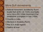 more sufi movements