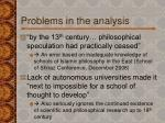 problems in the analysis