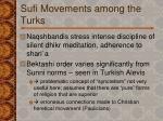 sufi movements among the turks