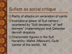 sufism as social critique