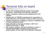 tanzania fully on board