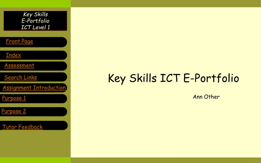 key skills ict e portfolio l.