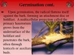 germination cont
