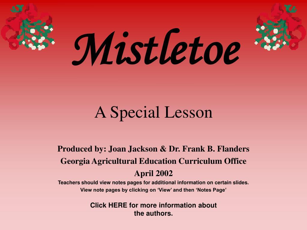 mistletoe l.
