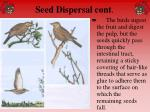 seed dispersal cont