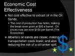 economic cost effectiveness