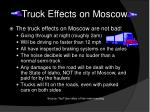 truck effects on moscow
