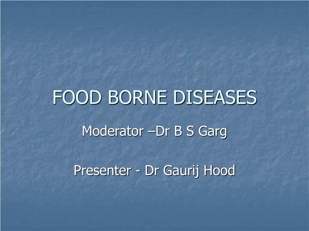 food borne diseases l.