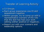transfer of learning activity