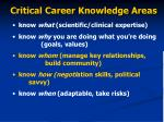 critical career knowledge areas9