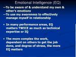 emotional intelligence eq