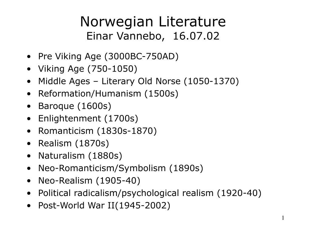 norwegian literature einar vannebo 16 07 02 l.
