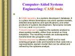 computer aided systems engineering case tools90