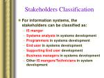 stakeholders classification