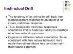 instinctual drift