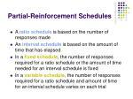 partial reinforcement schedules