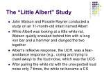 the little albert study