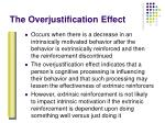 the overjustification effect54