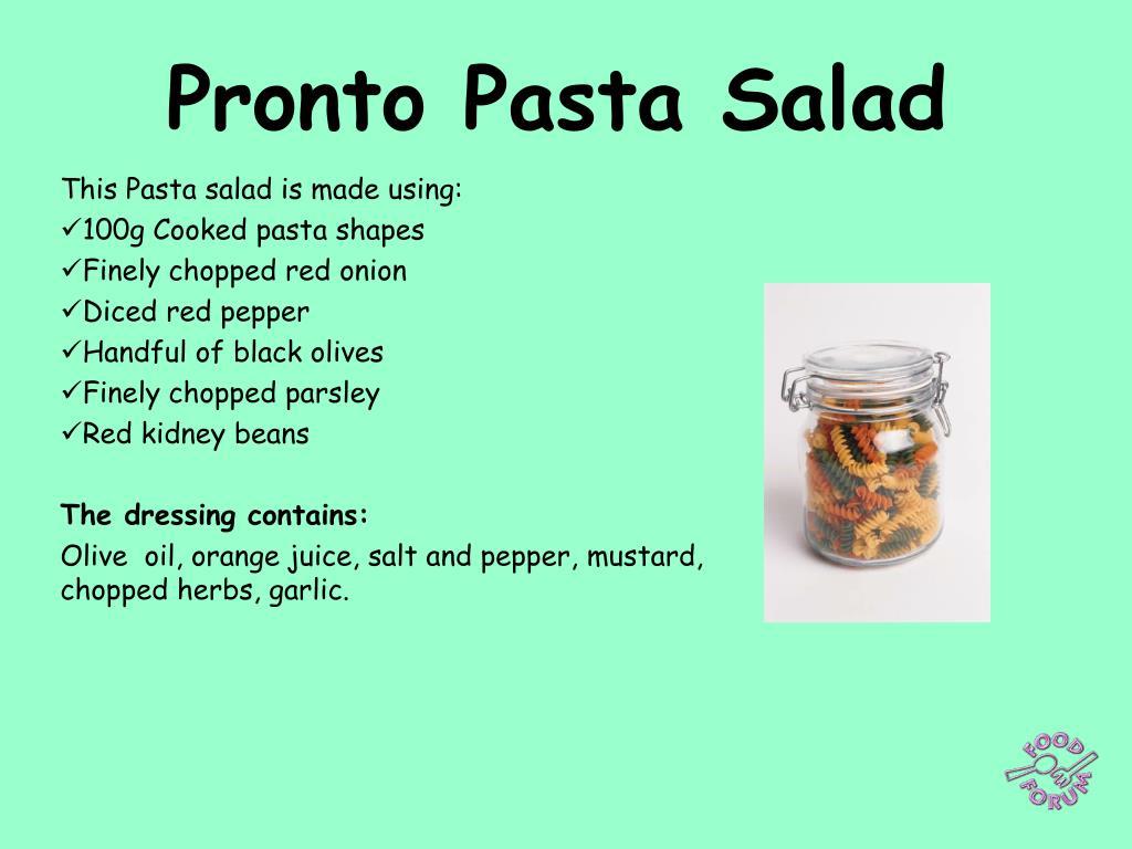 pronto pasta salad l.