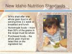 new idaho nutrition standards