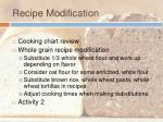 recipe modification