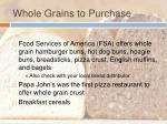 whole grains to purchase