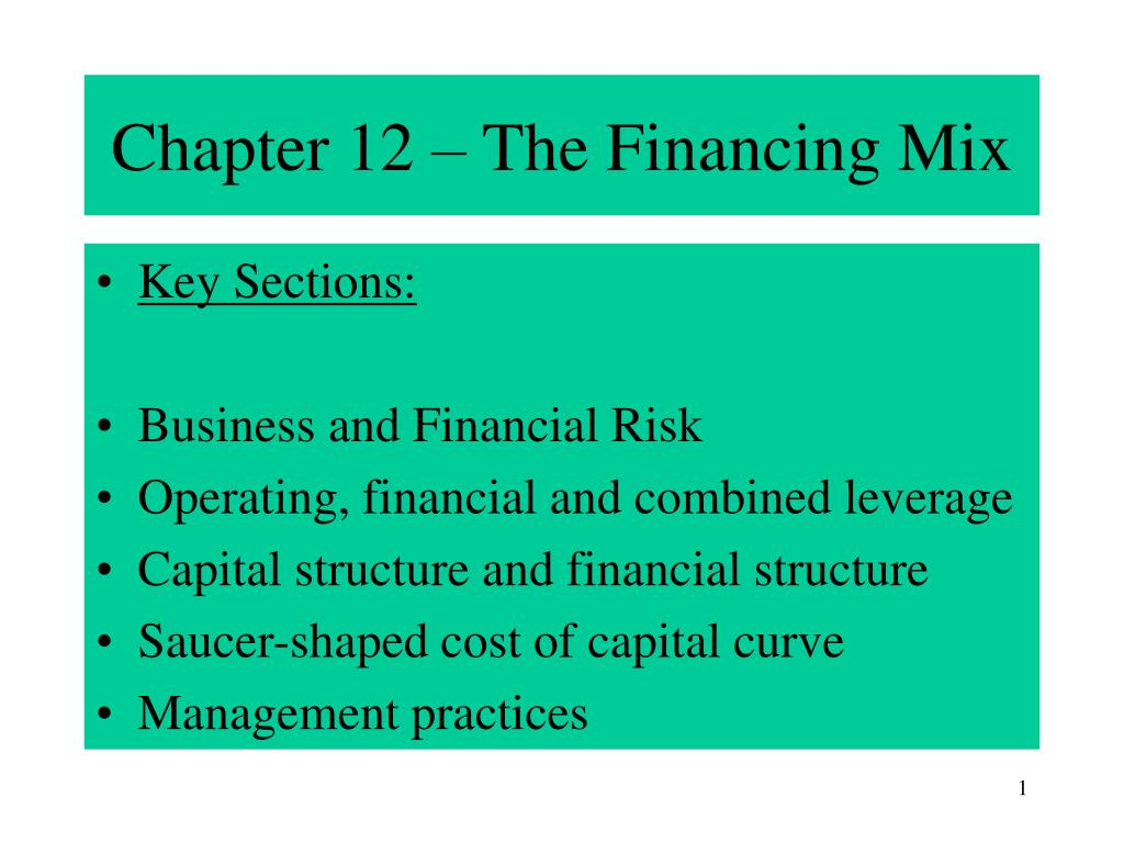 chapter 12 the financing mix l.