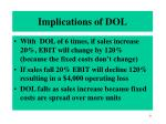 implications of dol