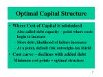 optimal capital structure