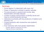 current practices among sadc countries21