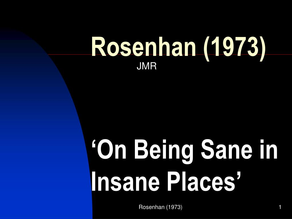 rosenhan 1973 l.