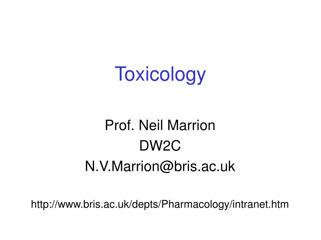toxicology l.