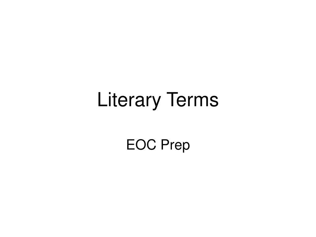literary terms l.