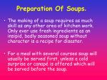 preparation of soups