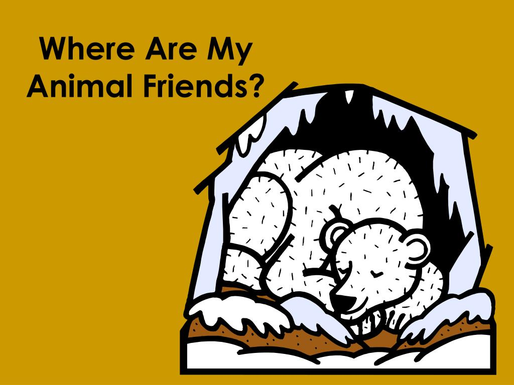 where are my animal friends l.