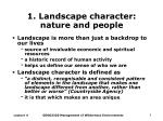 1 landscape character nature and people