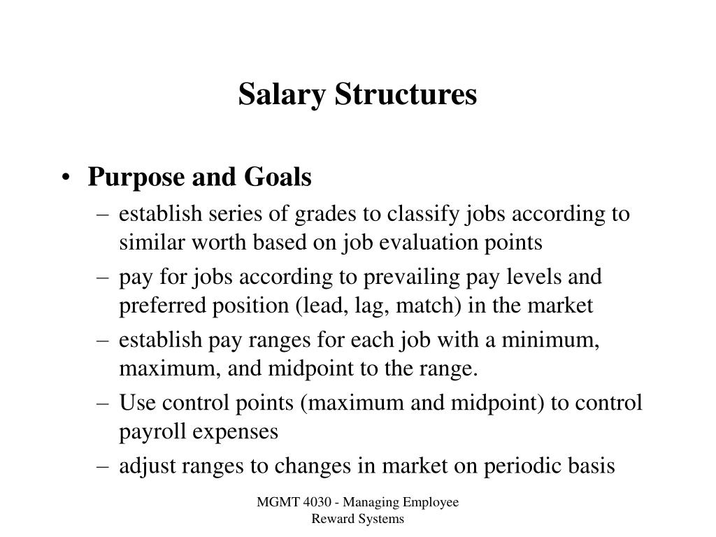 salary structures l.