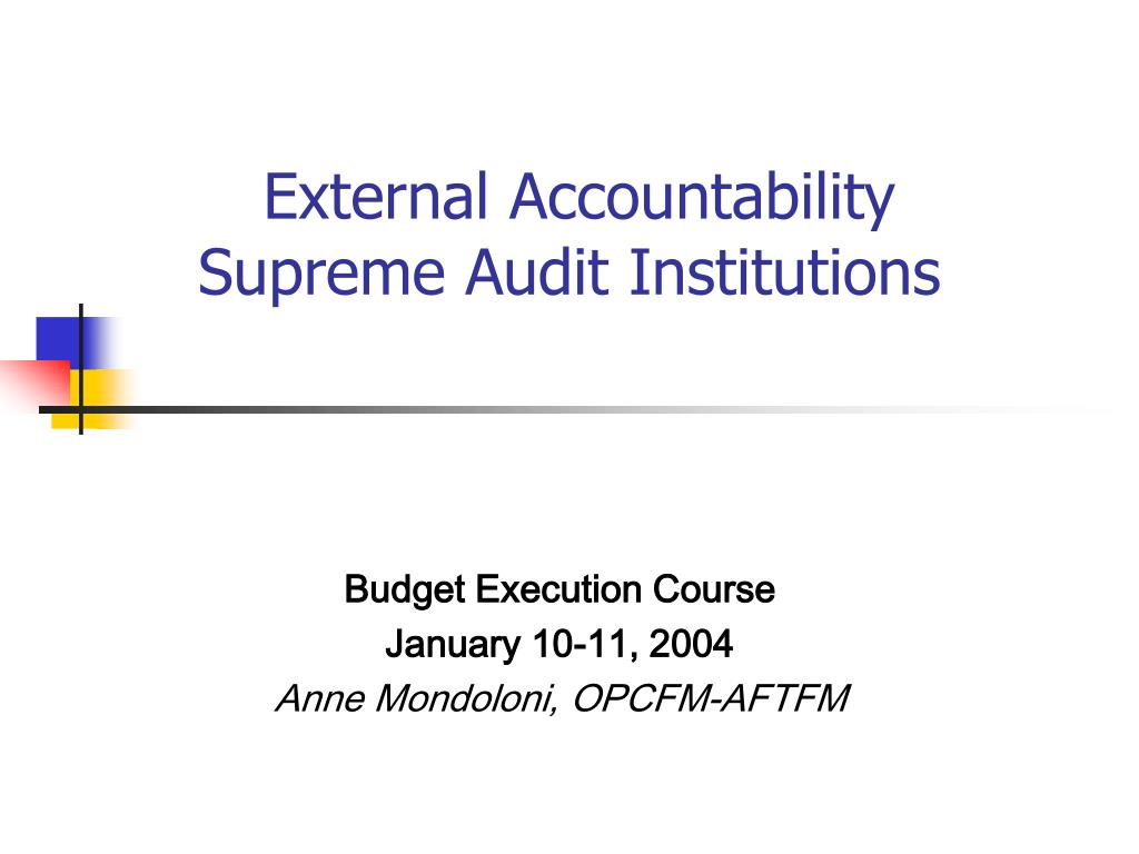 external accountability supreme audit institutions l.
