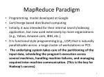 mapreduce paradigm