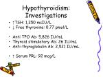 hypothyroidism investigations