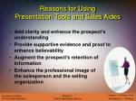 reasons for using presentation tools and sales aides12